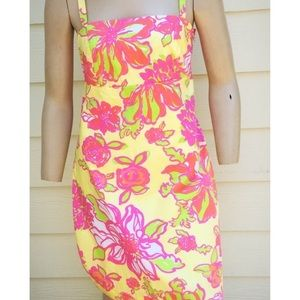 Lilly Pulitzer Yellow Flowered Preppy Sundress